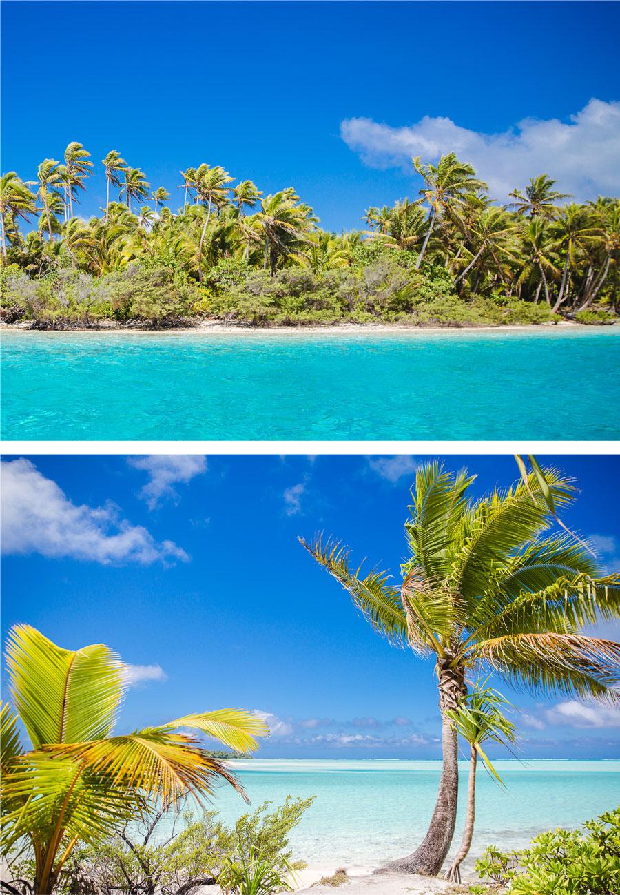 Die Lagune von Aitutaki