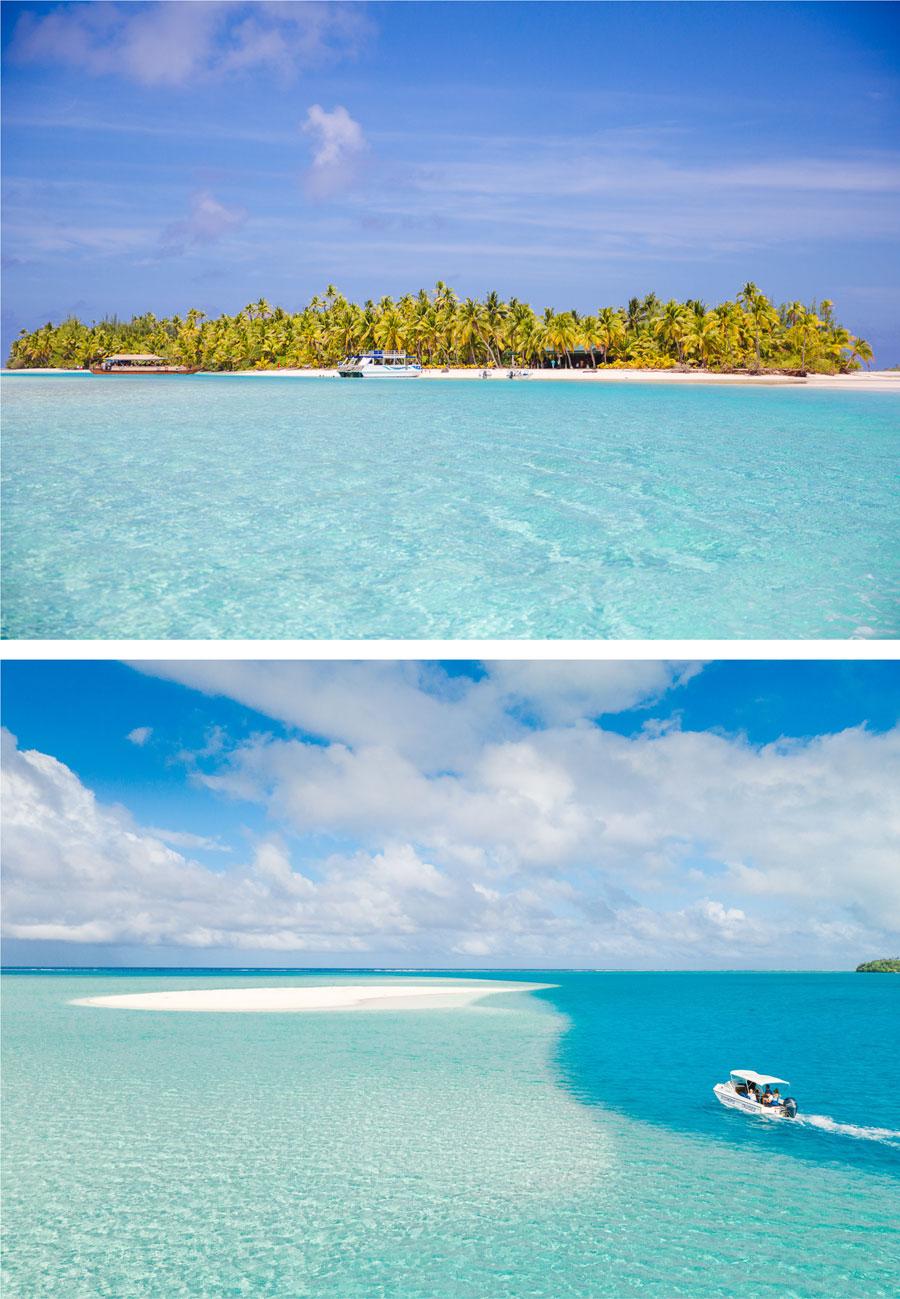 One Food Island Aitutaki  Luftansicht