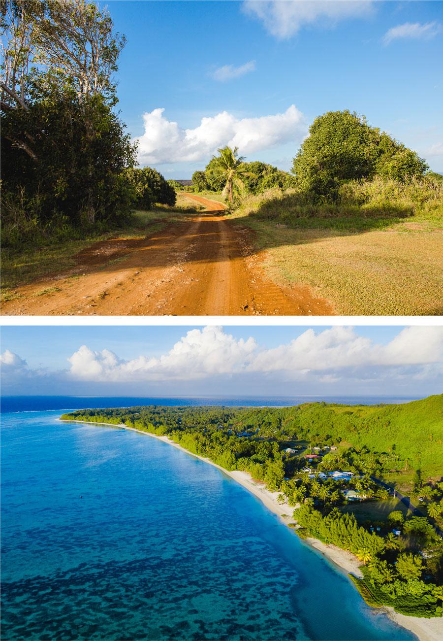 Inland Cookinseln - Luftansicht Aitutaki