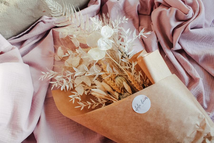 Hochzeitsdekoration - Trockenblumenstrauß für die Winterhochzeit